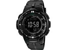 Casio ProTrek Watch PRW3000-1A Triple Sensor Ver 3 Solar Atomic Black Watch