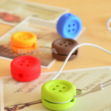 Button Cable Cord Wire Organizer Bobbin Winder Wrap For Headphone Earphone  PM