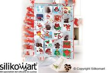 SET 2 CREATIVE XMAS COUNTDOWN GIFT BOX NATALE CALENDARIO DELL'AVVENTO SILIKOMART