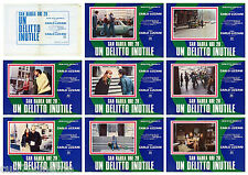 SAN BABILA ORE 20: UN DELITTO INUTILE SET FOTOBUSTA 8 PZ. FILM POLIZIESCO 1976