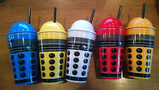 Limited Edition Doctor Who Dalek 16 oz Set of 5 Plastic Tumblers / Acrylic Cups