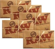 5 PACKS RAW CLASSIC 300's 1500 Natural UNBLEACHED Cigarette Rolling Papers