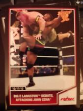 2013 Topps Best of WWE #70 Big E Langston Debuts, Attacking Cena Bronze Parallel