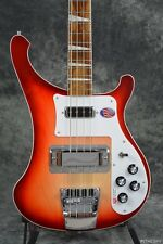 NEW RICKENBACKER 4003 FIREGLO FG 4 STRING BASS RED SOLID BODY GUITAR W/ RIC CASE