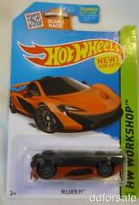 Upside Down McLaren P1 1/67 Scale Die-Cast Model Car Error Card From Hot Wheels