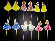 12 X Disney Princess Cake Picks/Toppers Cupcake Decorations Kids Birthday 887543
