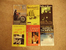 Hunter S Thompson collection Hell's Angels Fear & Loathing Gonzo (Paperback)
