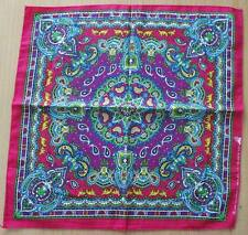 NEW COLORFUL GRAPHIC PAISLEY PINK PURPLE BANDANA HEAD WRAP HIPHOP BIKERS SCARF