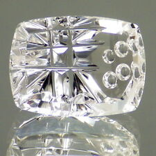 DANBURITE-MEXICO 12.79Ct FLAWLESS-UNIQUE ARTISTIC CUT-READ OUR BUYING GUIDE!