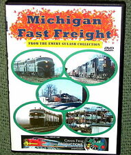 """cp101 TRAIN VIDEO DVD """"MICHIGAN FAST FREIGHT"""" 60's VINTAGE C&O,PENNSY,N&W"""