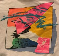 vintage 80s OP OCEAN PACIFIC Gray Tag t-shirt XL Windsurf Surf