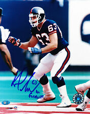 KARL NELSON SIGNED 1986 NEW YORK GIANTS 8x10 PHOTOGRAPH w/ MAB-CELEBRITY.COM COA