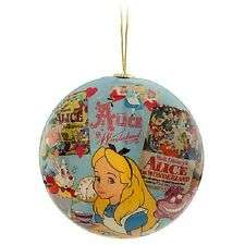 DISNEY 2012 ALICE IN WONDERLAND DECOUPAGE ORNAMENT NEW
