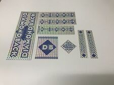 Diamondback Senior Pro Decals Sticker Set Suit Your Old School BMX Blue