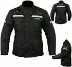 Mens Motorbike Motorcycle Waterproof Racing Cordura Textile Jacket Black, Medium