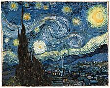 "Starry Night by Vincent Van Gogh, 16""x20"", Giclee Canvas Print"