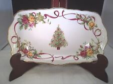 Royal Albert Old Country Rose Christmas Tree Sandwich Tray