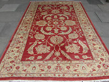 Traditional Hand Made Rugs Afghan Oriental Carpet Rug Wool Orange Red 294x205cm