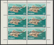 GB Locals - Pabay (984) 1970 European Conservation opt on FISH sheet of 6 u/m