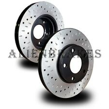 CHR006FS 300 V6 2WD Brake Rotors Front Set Cross Drill & Dimple Slots