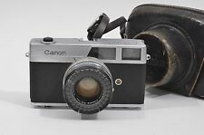 TESTED CANON CANONET CAMERA w/45mm F1.9 SE LENS, FITTED LEATHER CASE, GREAT!