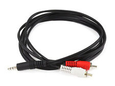 6 ft 3.5mm Mini Plug to 2 RCA Male Stereo Audio Cable