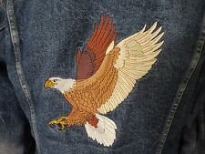 Levis Red Tab Lined Trucker Jacket 70506-0317 Size 42 Embroidered Eagle USA
