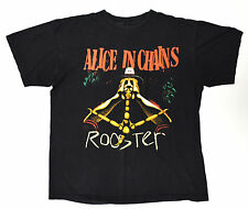 Alice In Chains Rooster Vintage Black Large Shirt OOP Rare
