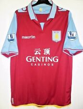 Macron - Aston Villa FC Home Football/Soccer Shirt/Jersey(+EPL Patches)Adult - L