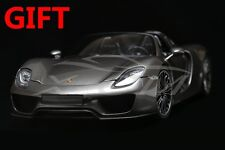 Car Model Minichamps Porsche 918 Spyder 2013 1:18 (Gray) + SMALL GIFT!!!!!!