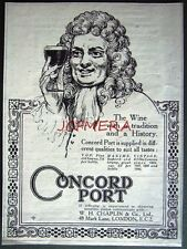 1921 'CONCORD Port' Alcoholic Drink ADVERT - Small Vintage Print Ad