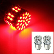 2PCS 1157 BAY15D 50 SMD 1206 LED Red Lamp Bulb Car Tail Stop Brake Light 3W 12V