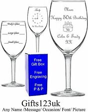 Personalised 14oz Wine Glass,Birthday Gift,18th 21st 30th 40th 50th 60th 70th