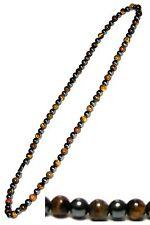 """Men's magnetic hematite tiger eye necklace black 22"""" tiger"""