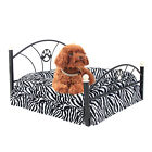 Pet Dog Bed Upscale Metal Frame Bed Cushion Puppy Dog Crate Mattress Bed Zebra