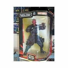 "STAR WARS DARTH MAUL 12"" INCH SIGNED 1999 MEGA-COLLECTIBLE NEW BOX"