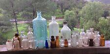 Antique & Vintage Glass Bottles Mostly Medicine Lot of (34) Nice Collection