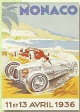 PLAQUE METAL 20X15 GRAND PRIX AUTOMOBILE 1936 DE MONACO