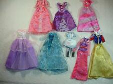 Lot 8 Disney Princess Gowns Dresses Belle Aurora Elsa Frozen fits Barbie Dolls
