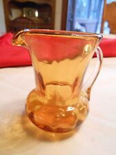 Beautiful Collectible Vintage AMBER Glass Mini Pitcher