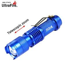 Ultrafire 3500 LM CREE Q5 14500 AA 3mode ZOOM LED Flashlight MINI Torch Blue MT