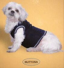 THE BUTTONS CABLE KNIT SWEATER VEST COMPANION ROAD PET FASHIONS DOG LARGE NOS