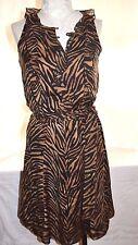 White House Black Market Silk Tiger Print Dress sz.4