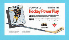 Ray Raymond Bourque 1989 Duracell  Hockey Ad Coupon Brochure Contest Entry Form