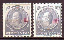 INDIA Military Stamps Nehru ovp ICC & UNEF Mint Never Hinged