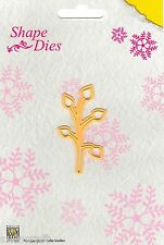 Nellie Snellen SHAPE DIES - SINGLE LEAF BRANCH Cutting die - SD009 Nellie's  *