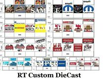 9 NEW Parts Boxes #2- UNASSEMBLED-you cut out and glue-for your garage/shop 1/18