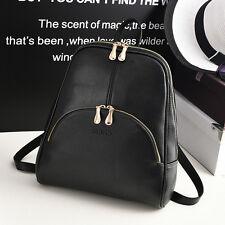 Women's Leather Travel Satchel Fashion Shoulder Bag Backpack School Rucksack