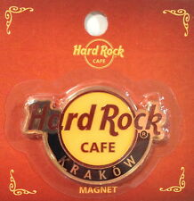 Hard Rock Cafe KRAKOW 2011 Classic HRC Logo MAGNET Mint New on Card CITY CORE!
