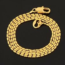 Tiny 9K Gold Filled Hypoallergenic Solid Beaded Chain Necklace Woman